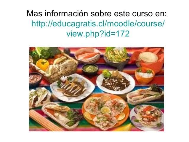 Curso cocina mexicana for Curso cocina gratis