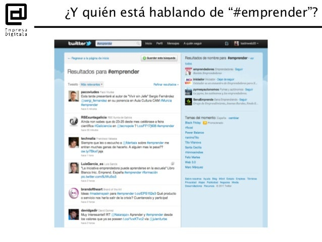 Hashtags para eventos Después • Recoge los tweets con el hashtag –http://www.tweetdoc.org/ –http://storify.com/ • Publ...