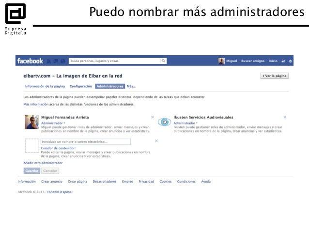 """Puedes seguir a otras páginas Ves sus actualizaciones en las """"Últimas noticias"""" de tu página Usar Facebook como página"""