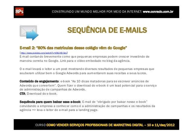 CONSTRUINDO UM MUNDO MELHOR POR MEIO DA INTERNET: www.conrado.com.br                               SEQUÊNCIA DE E-MAILSE-m...