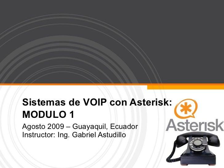 Sistemas De Voip Con Asterisk Modulo I