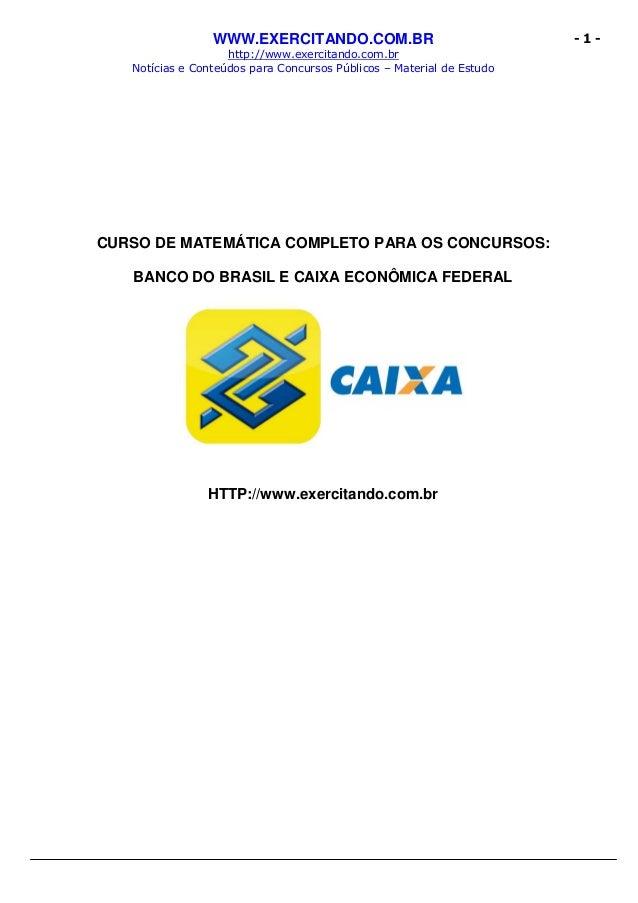 WWW.EXERCITANDO.COM.BR http://www.exercitando.com.br Notícias e Conteúdos para Concursos Públicos – Material de Estudo - 1...