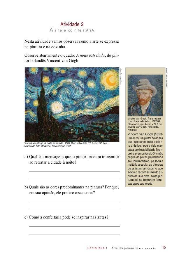 C onf eiteir o 1 Atividade 2 A r te e co n fe itAriA Nesta atividade vamos observar como a arte se expressa na pintura e n...