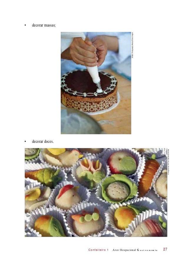 C onf eiteir o 1 • decorar massas; • decorar doces. Arco Ocupacional G a s t r o n o m i a 27 ©B&YPhotography/Alamy/OtherI...