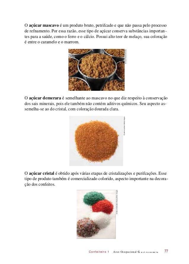 C onf eiteir o 1 O açúcar mascavo é um produto bruto, petrifcado e que não passa pelo processo de refnamento. Por essa raz...
