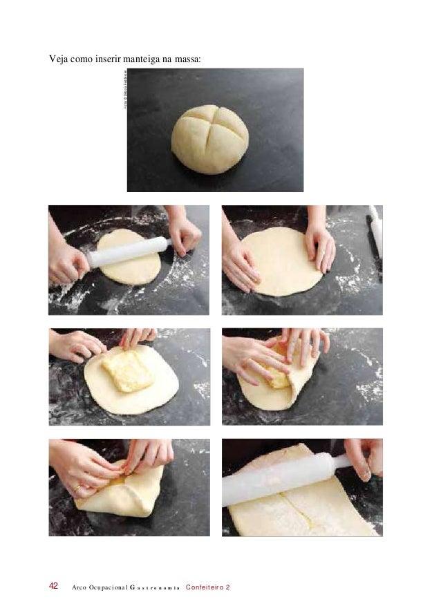 Veja como inserir manteiga na massa: Arco Ocupacional G a s t r o n o m i a Confeiteiro 242 Fotos©DeboraFeddersen
