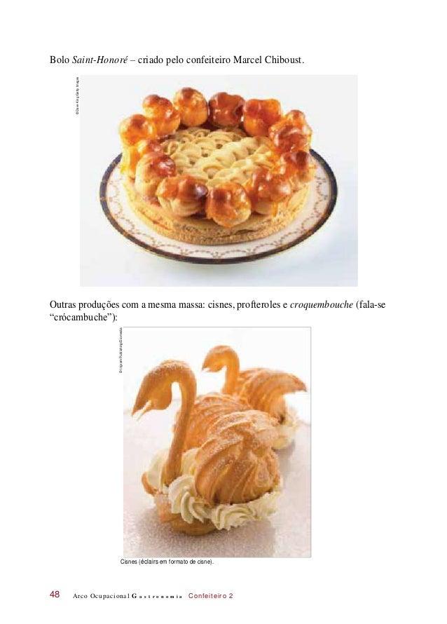 Bolo Saint-Honoré – criado pelo confeiteiro Marcel Chiboust. Outras produções com a mesma massa: cisnes, profteroles e cro...