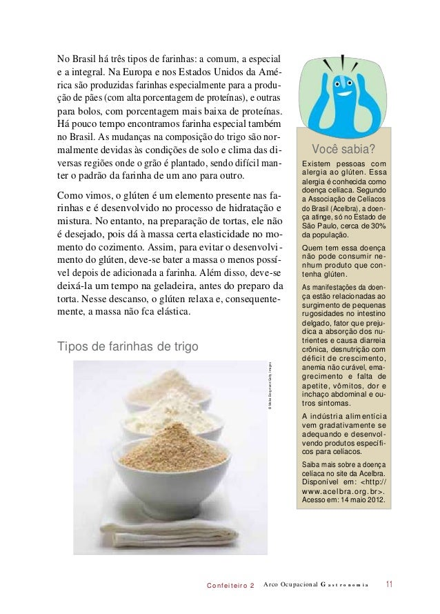 C onf eiteir o 2 No Brasil há três tipos de farinhas: a comum, a especial e a integral. Na Europa e nos Estados Unidos da ...