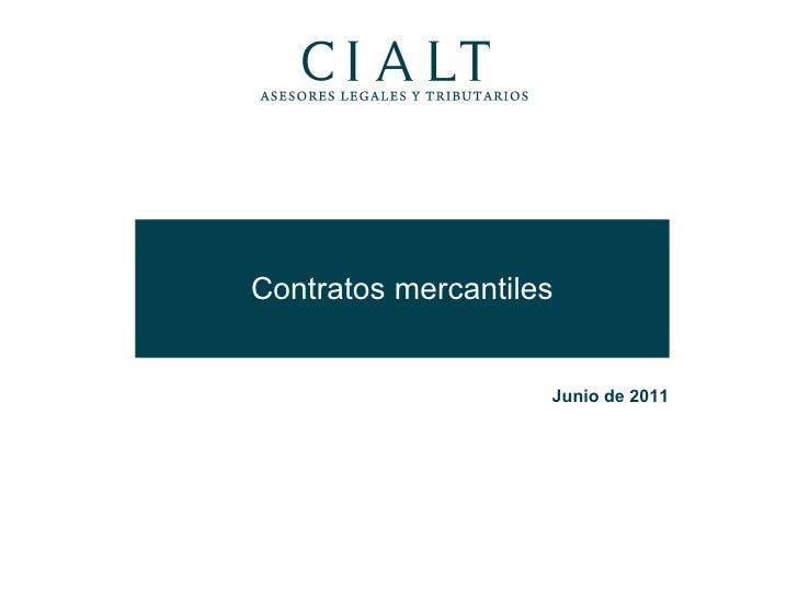 Contratos mercantiles Junio de 2011