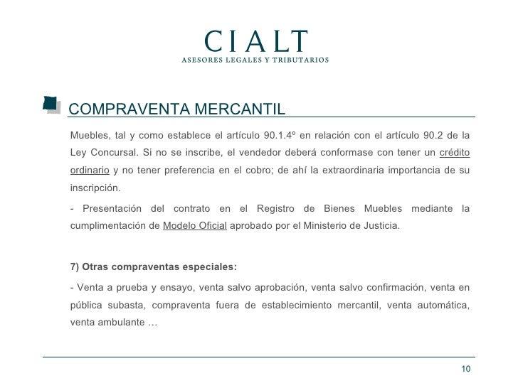 Curso contratos mercantiles - Registro mercantil de bienes muebles ...