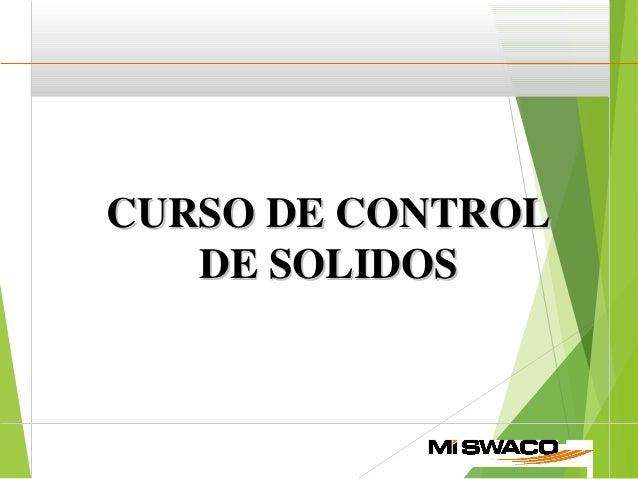 CURSO DE CONTROLCURSO DE CONTROL DE SOLIDOSDE SOLIDOS