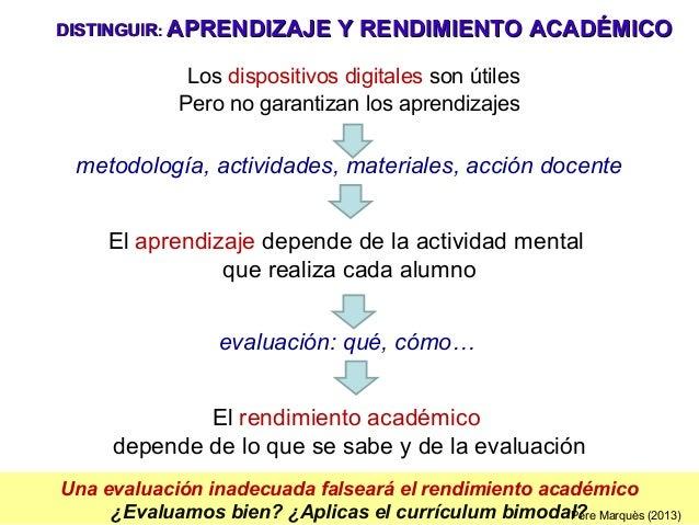 Una evaluación inadecuada falseará el rendimiento académico ¿Evaluamos bien? ¿Aplicas el currículum bimodal? Los dispositi...