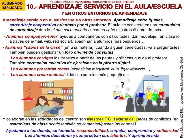 10.- APRENDIZAJE SERVICIO EN EL AULA/ESCUELA10.- APRENDIZAJE SERVICIO EN EL AULA/ESCUELA Y EN OTROS ENTORNOS DE APRENDIZAJ...