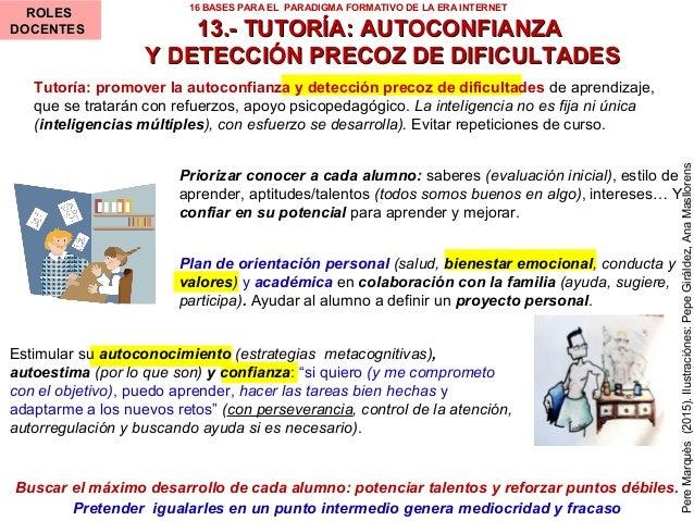 13.- TUTORÍA: AUTOCONFIANZA13.- TUTORÍA: AUTOCONFIANZA Y DETECCIÓN PRECOZ DE DIFICULTADESY DETECCIÓN PRECOZ DE DIFICULTADE...