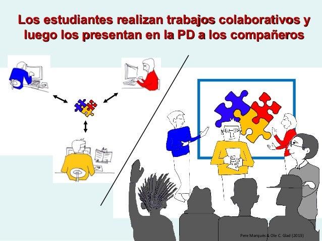 Los estudiantes realizan trabajos colaborativos yLos estudiantes realizan trabajos colaborativos y luego los presentan en ...