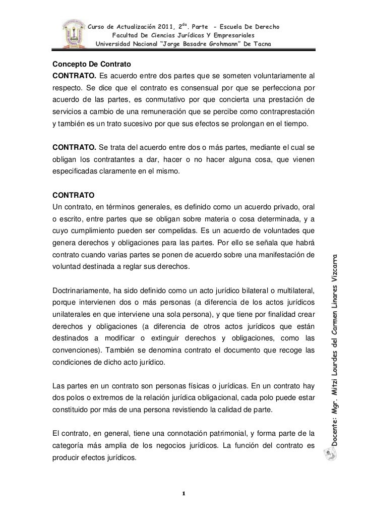 Ii curso de actualizacion 2011 contratos for Contrato de hipoteca