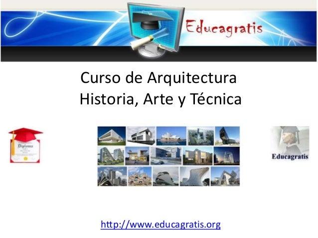 Curso de arquitectura arte historia for Aulas web arquitectura