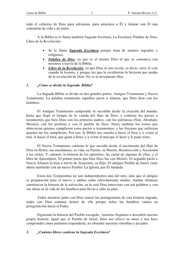 CURSO DE BIBLIA- P. ANTONIO RIVERO Slide 2