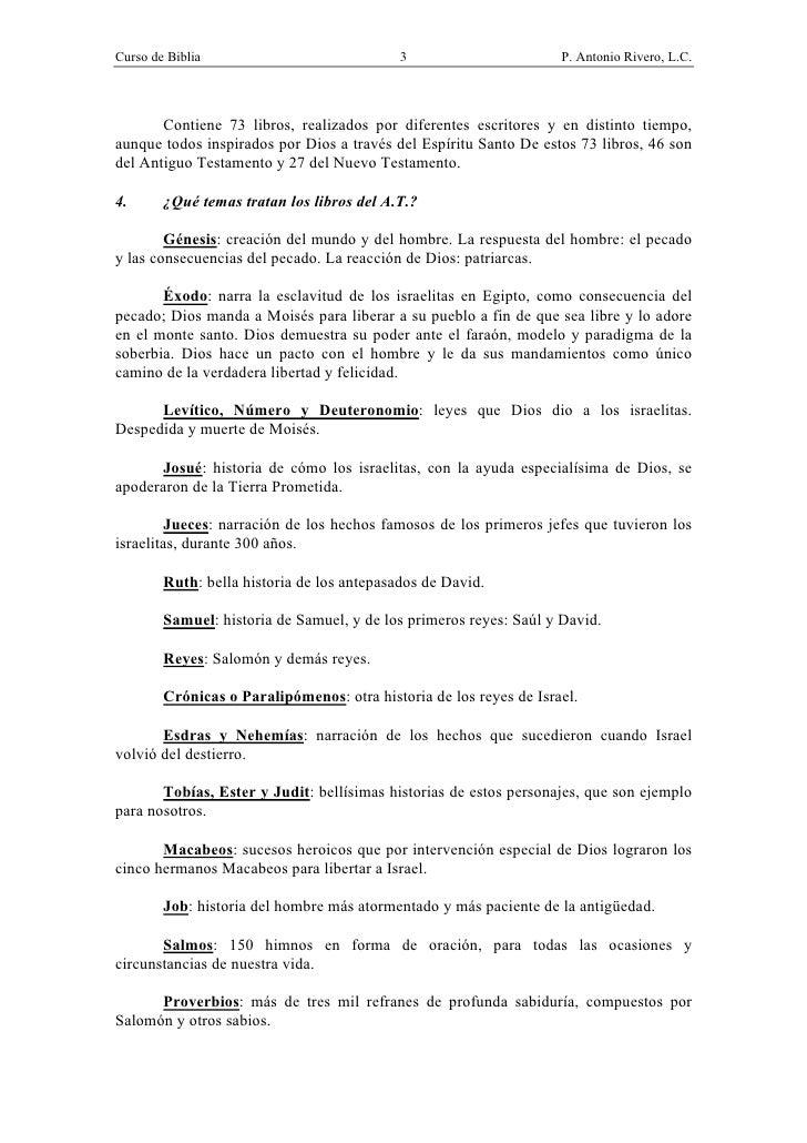 CURSO DE BIBLIA- P. ANTONIO RIVERO Slide 3