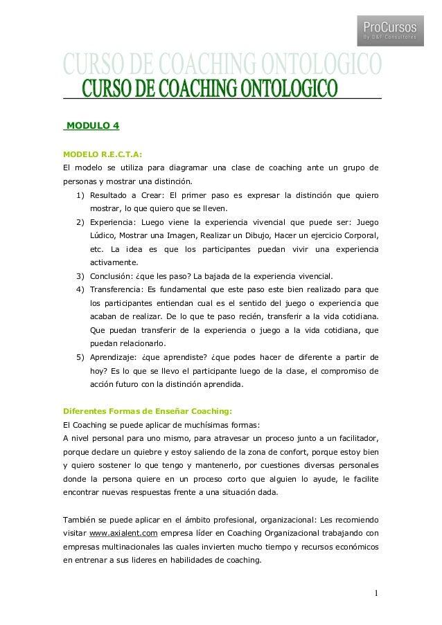 Curso de coaching a distancia m dulo 4 for Curso de interiorismo a distancia