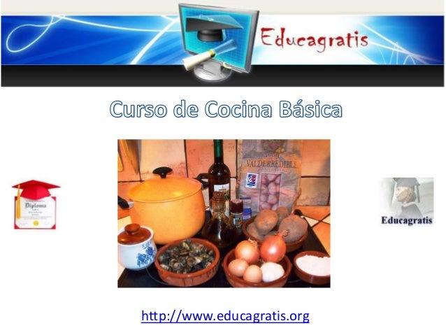 Curso de cocina basica for Curso cocina gratis