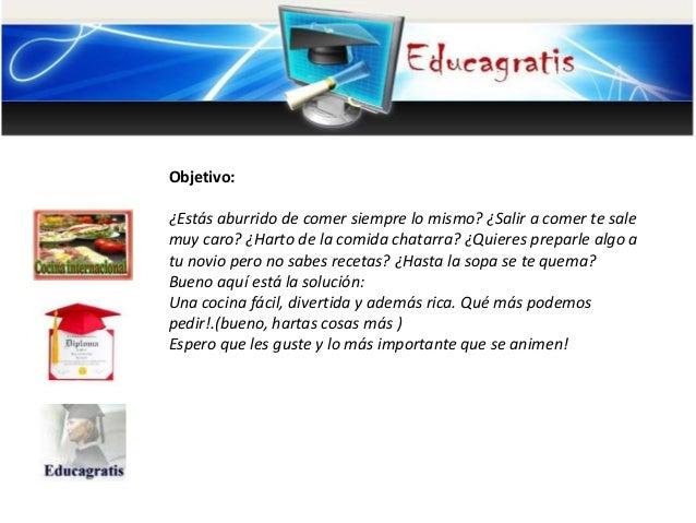 Curso de cocina internacional for Cursos de cocina gratis por internet