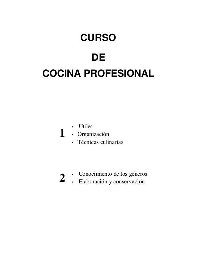 Curso de cocina profesional for Curso cocina profesional pdf