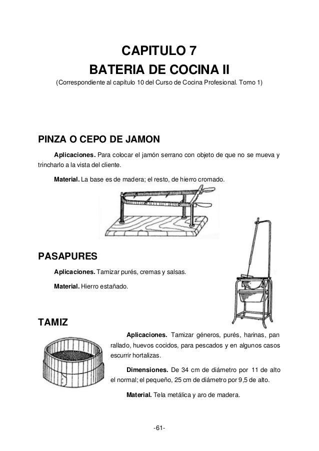 Curso de cocina profesional for Material cocina profesional
