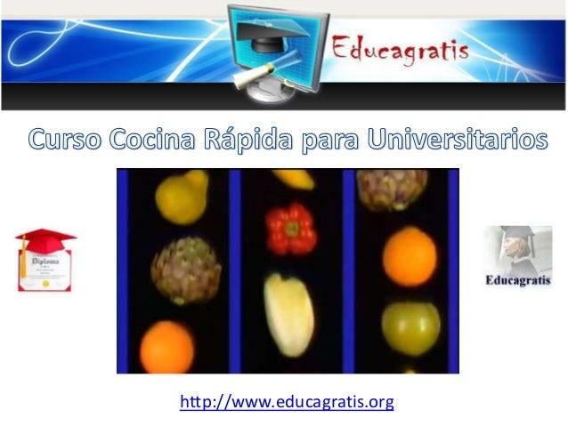 Curso cocina r pida para universitarios for Curso cocina gratis