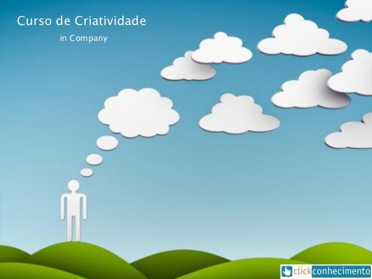 Curso de Criatividade  in Company