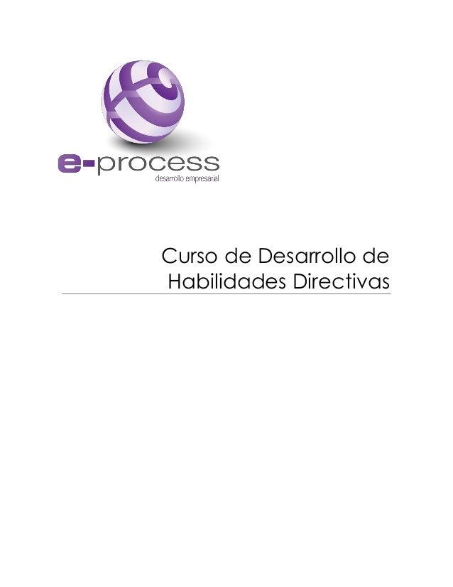 Curso de Desarrollo de Habilidades Directivas