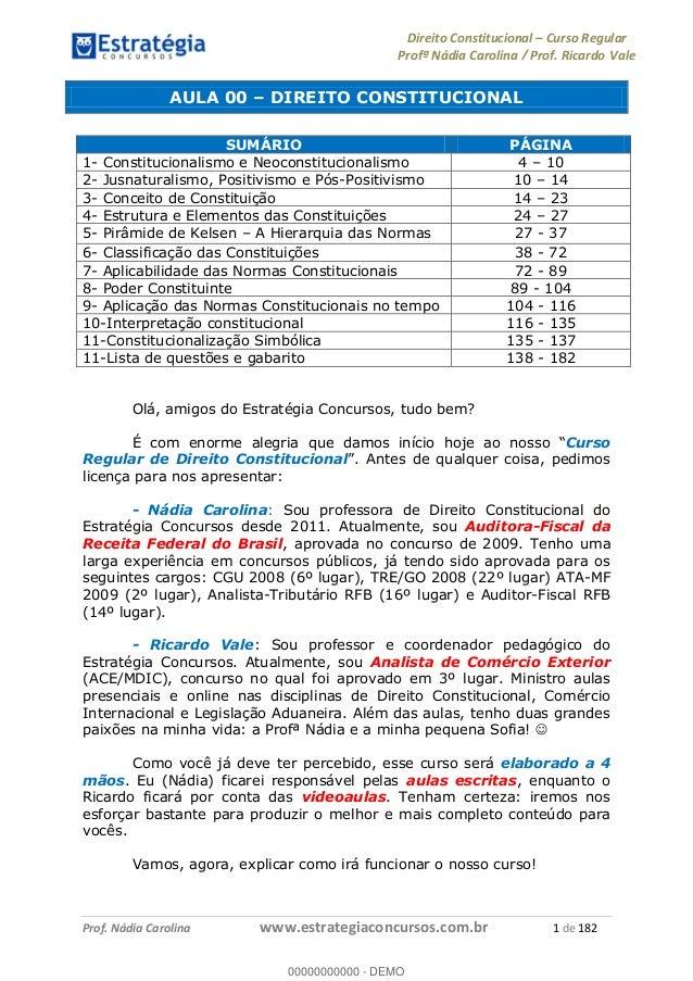 Curso De Direito Constitucional Pdf