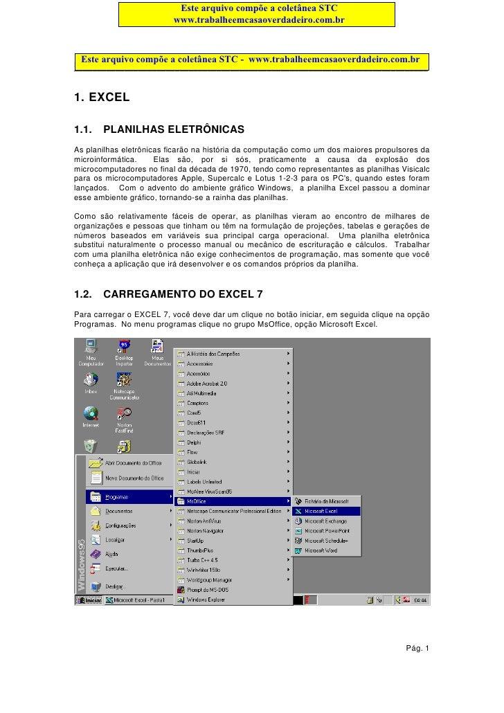 Este arquivo compõe a coletânea STC                         www.trabalheemcasaoverdadeiro.com.br Este arquivo compõe a col...
