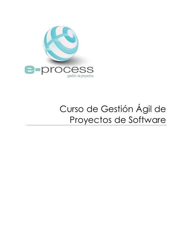 Curso de Gestión Ágil de Proyectos de Software
