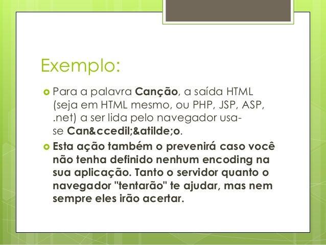 Curso de Html - Caracteres Especiais em HTML Slide 3