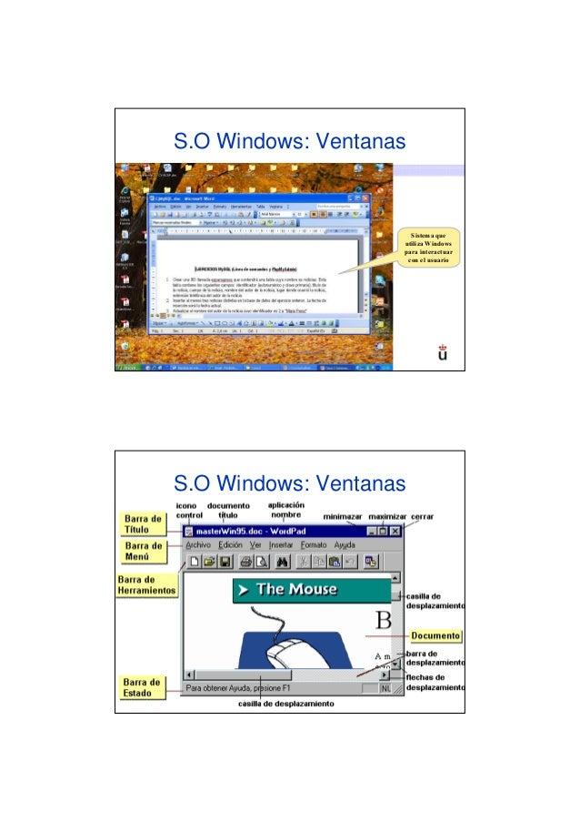 S.O Windows: Ventanas53                                                  Sistema que                                      ...