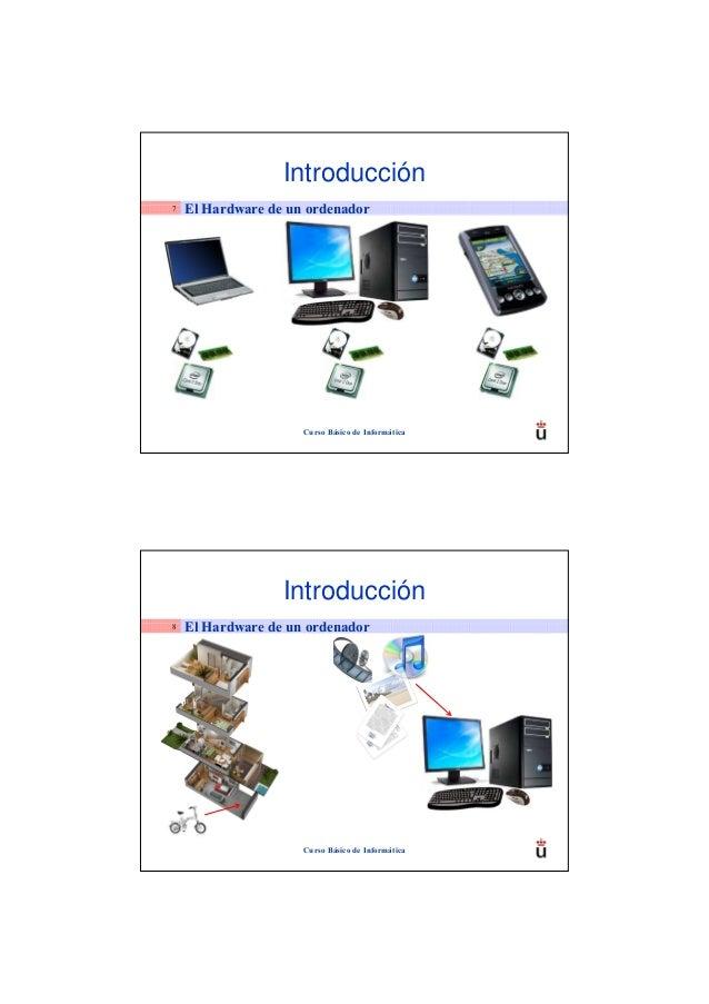 Introducción7   El Hardware de un ordenador                     Curso Básico de Informática                  Introducción8...