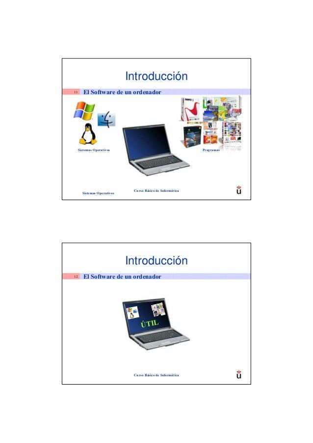 Introducción11      El Software de un ordenador     Sistemas Operativos                                    Programas      ...