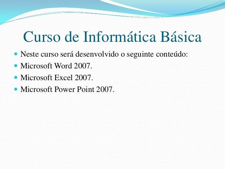 Curso de inform tica b sica for Curso de cocina basica pdf