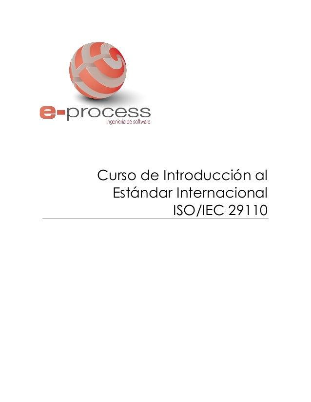 Curso de Introducción al Estándar Internacional ISO/IEC 29110