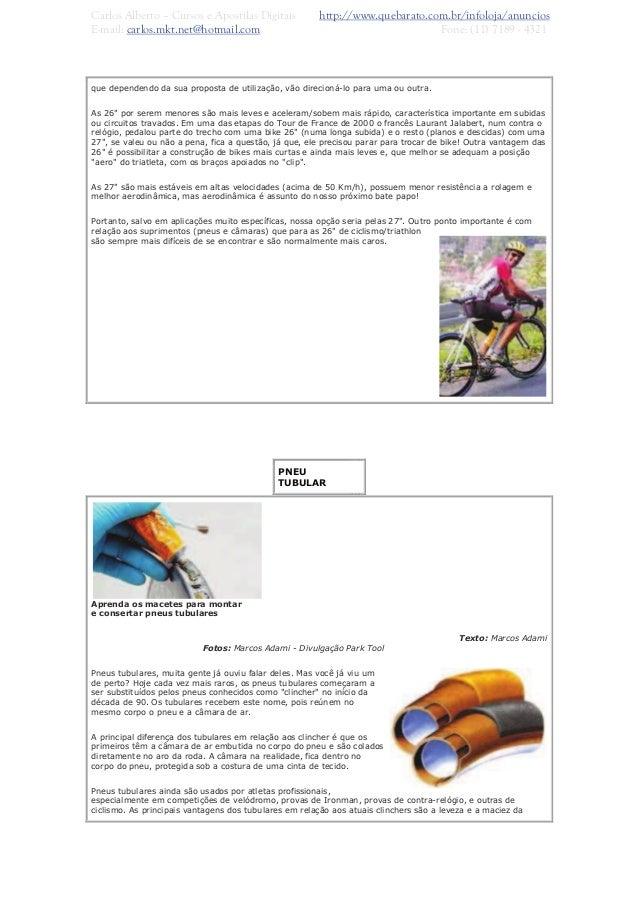 Curso de manutenção e mecânica de bicicletas.armlook
