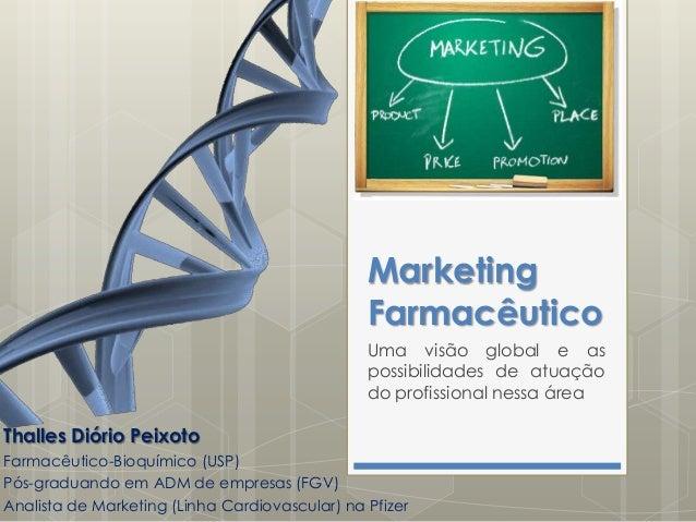 Marketing Farmacêutico Uma visão global e as possibilidades de atuação do profissional nessa área  Thalles Diório Peixoto ...