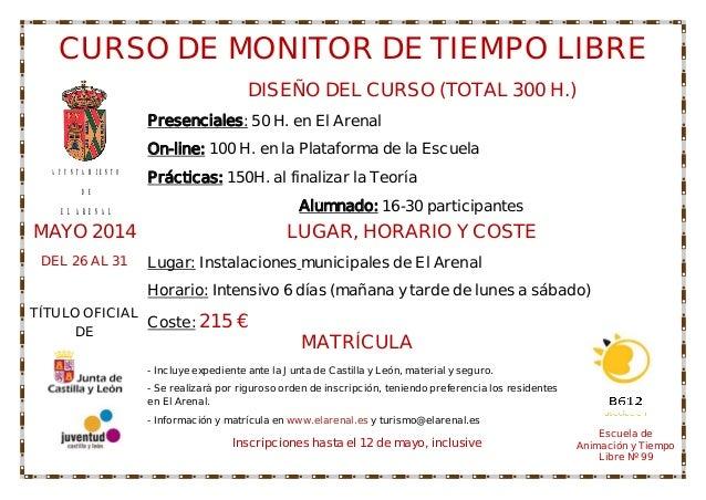 #Turismo - Curso de monitor de tiempo libre