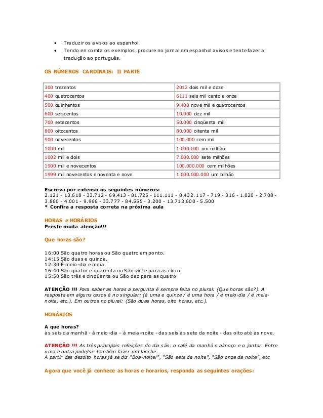 curso de portugues para imprimir