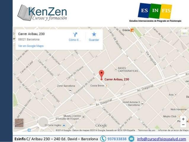 Esinfis C/ Aribau 230 – 240 Ed. David – Barcelona 937833838 info@cursosfisiosysalud.com