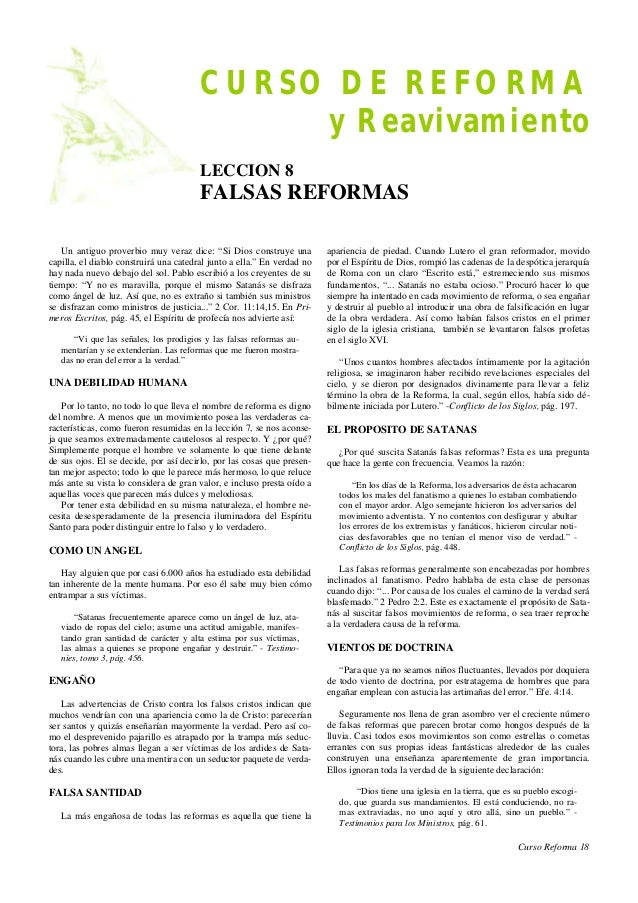 CURSO DE REFORMA y Reavivamiento