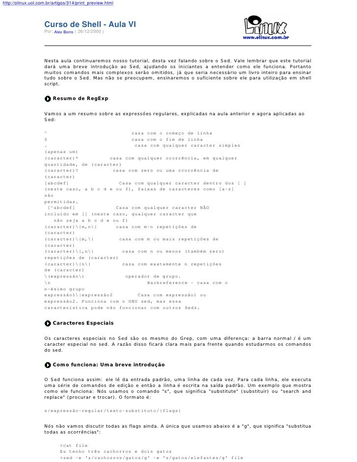 http://olinux.uol.com.br/artigos/314/print_preview.html                        Curso de Shell - Aula VI                   ...