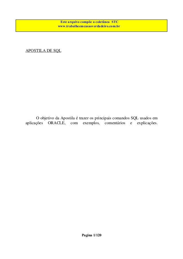 Este arquivo compõe a coletânea STC Este arquivo é parte integrante do CD MEGA CURSOS www.trabalheemcasaoverdadeiro.com.br...