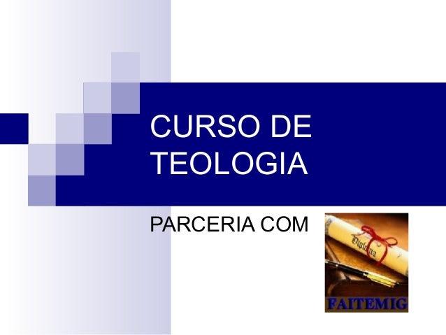CURSO DETEOLOGIAPARCERIA COM