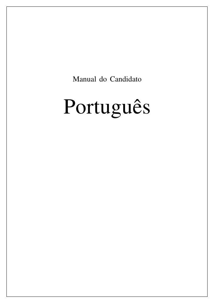 Manual do CandidatoPortuguês